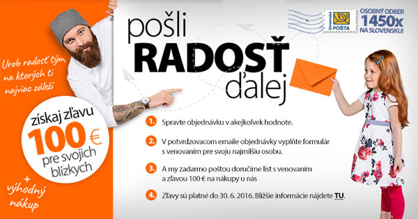 Daruj zľavu 100€ na Hej.sk pre svojich blízkych