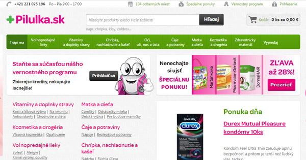 Doprava zadarmo na Pilulka.sk pri nákupe nad 15€