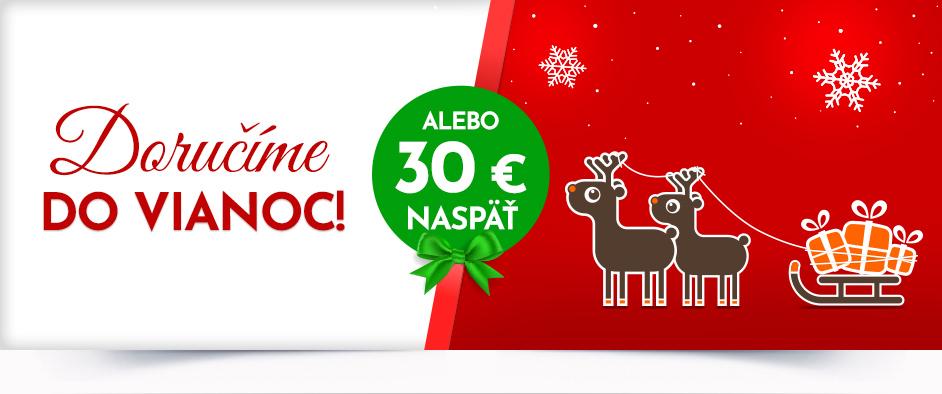 Na Hej.sk doručenie do Vianoc alebo 30€ naspäť