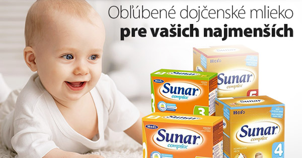 Obľúbené dojčenské mlieko Sunar teraz lacnejšie