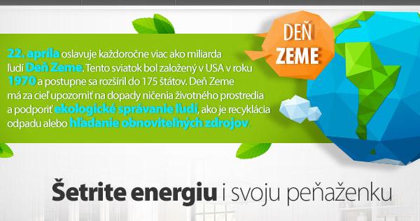 Oslávte Deň Zeme kúpou úsporného spotrebiča