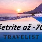 Ušetrite až -70% na dovolenkách s Travelist.sk